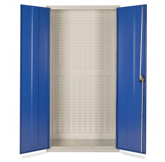 Bin Cabinet with Louvre Panels to Rear - No Bins Supplied - Size 1830 x 915 x 457