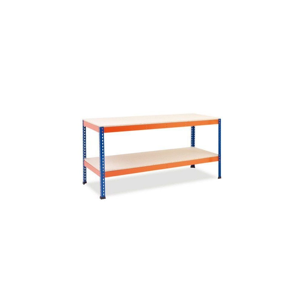 Excellent Heavy Duty Workbench 915H X 2440W X 760D Shelf Capacity 500Kg Udl Theyellowbook Wood Chair Design Ideas Theyellowbookinfo