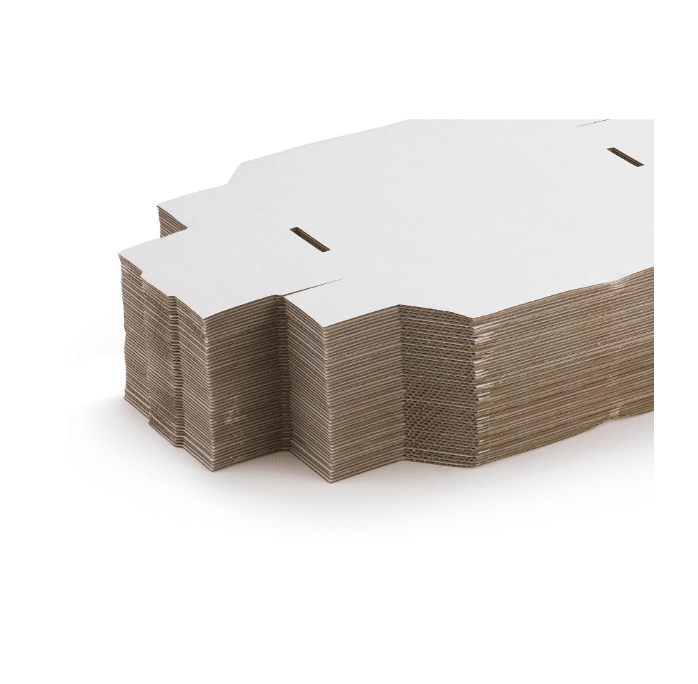 White Cardboard (Size 8 Qty per Pack 50) - Size 105 x 105 x 230